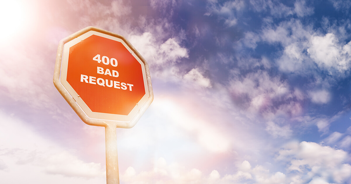 HTTP 400 : Bad Request en clair